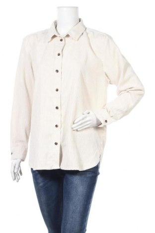 Дамска риза H&M L.O.G.G., Размер XL, Цвят Бежов, 90% полиестер, 10% полиамид, Цена 18,95лв.