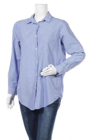 Дамска риза H&M L.O.G.G., Размер M, Цвят Син, Памук, Цена 14,96лв.