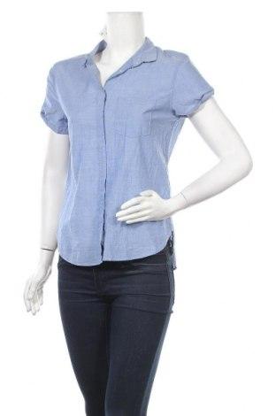 Дамска риза H&M L.O.G.G., Размер S, Цвят Син, Памук, Цена 19,79лв.