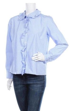 Γυναικείο πουκάμισο Hallhuber, Μέγεθος L, Χρώμα Μπλέ, Βαμβάκι, Τιμή 14,62€