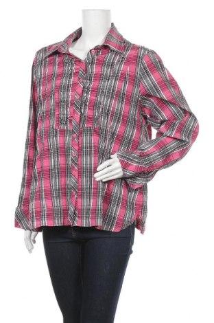 Γυναικείο πουκάμισο Miss Etam, Μέγεθος XL, Χρώμα Πολύχρωμο, 69% βαμβάκι, 16% πολυαμίδη, 12% πολυεστέρας, 3% ελαστάνη, Τιμή 3,86€