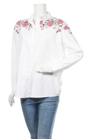 Дамска риза Pimkie, Размер M, Цвят Бял, Памук, Цена 42,00лв.