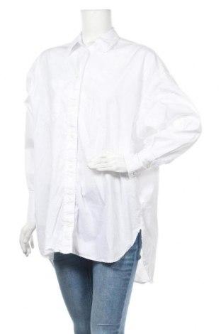 Дамска риза Stradivarius, Размер S, Цвят Бял, 100% памук, Цена 39,00лв.
