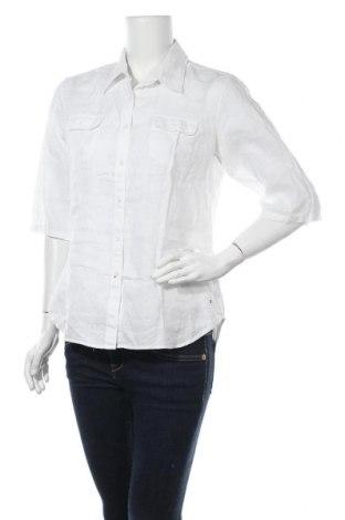 Дамска риза Tommy Hilfiger, Размер M, Цвят Бял, Лен, Цена 35,91лв.