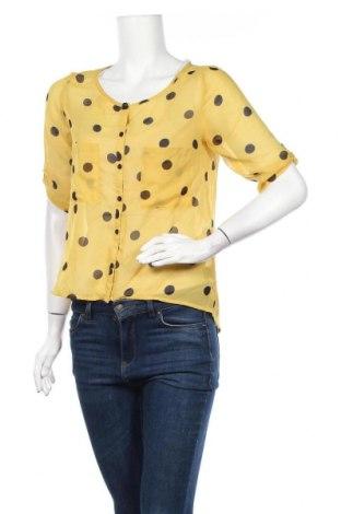 Дамска риза Uk 2 La, Размер S, Цвят Жълт, Полиестер, Цена 8,93лв.