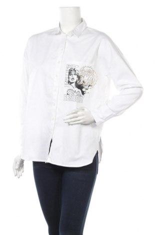 Дамска риза Yfl Reserved, Размер S, Цвят Бял, Памук, Цена 15,75лв.