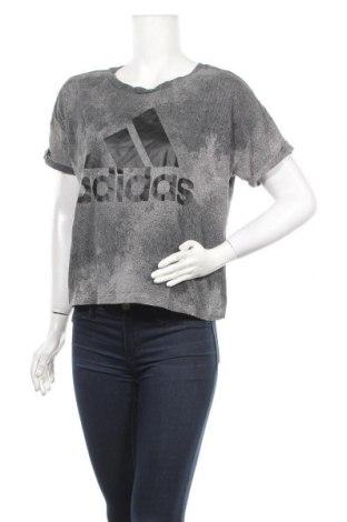 Дамска тениска Adidas, Размер L, Цвят Сив, Памук, Цена 21,00лв.