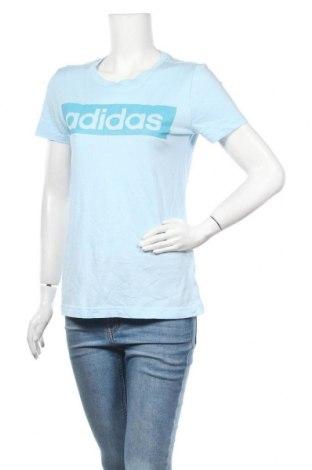 Γυναικείο t-shirt Adidas, Μέγεθος M, Χρώμα Μπλέ, 70% βαμβάκι, 30% πολυεστέρας, Τιμή 14,36€