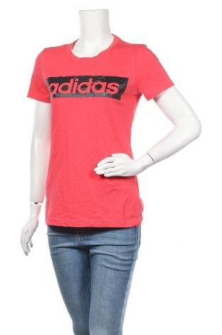 Γυναικείο t-shirt Adidas, Μέγεθος M, Χρώμα Κόκκινο, 70% βαμβάκι, 30% πολυεστέρας, Τιμή 16,89€