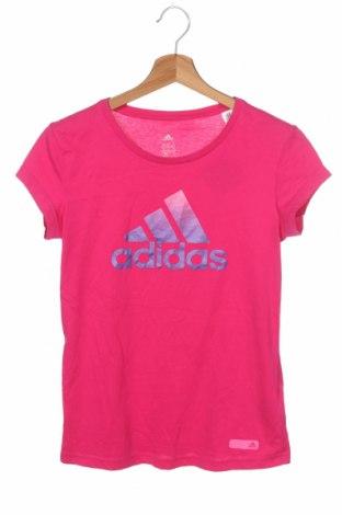 Γυναικείο t-shirt Adidas, Μέγεθος XS, Χρώμα Ρόζ , 70% βαμβάκι, 30% πολυεστέρας, Τιμή 17,54€