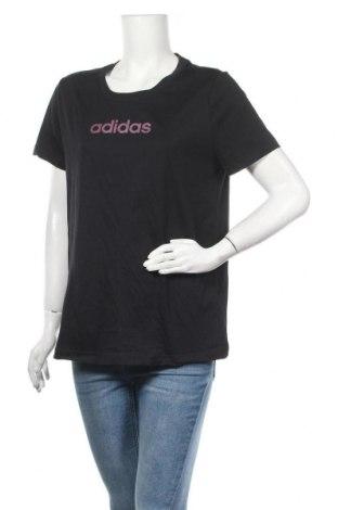 Дамска тениска Adidas, Размер XL, Цвят Черен, Памук, Цена 27,60лв.