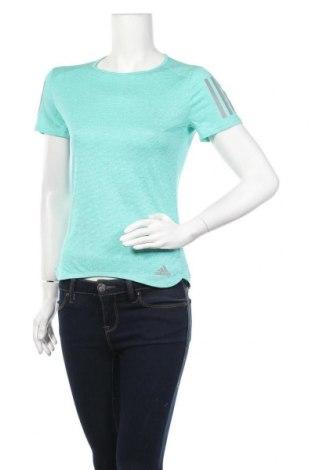 Γυναικείο t-shirt Adidas, Μέγεθος XS, Χρώμα Πράσινο, Πολυεστέρας, Τιμή 26,68€