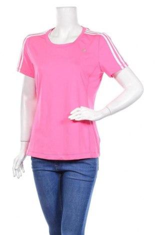 Дамска тениска Adidas, Размер L, Цвят Розов, 84% полиестер, 16% еластан, Цена 24,00лв.