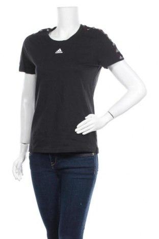 Γυναικείο t-shirt Adidas, Μέγεθος M, Χρώμα Μαύρο, Βαμβάκι, Τιμή 25,61€