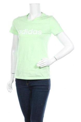 Γυναικείο t-shirt Adidas, Μέγεθος M, Χρώμα Πράσινο, Βαμβάκι, Τιμή 25,61€