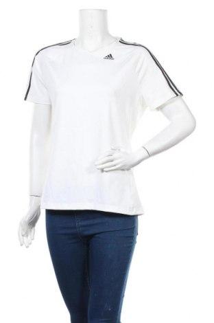 Γυναικείο t-shirt Adidas, Μέγεθος XL, Χρώμα Λευκό, 84% πολυεστέρας, 16% ελαστάνη, Τιμή 17,90€