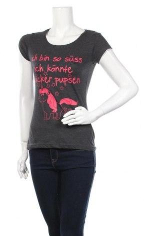 Дамска тениска Blind Date, Размер S, Цвят Сив, 60% памук, 40% полиестер, Цена 11,60лв.