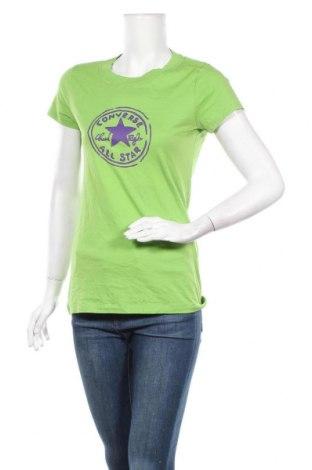 Дамска тениска Converse, Размер M, Цвят Зелен, 100% памук, Цена 22,68лв.