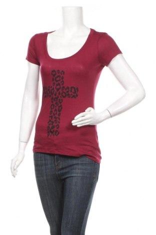 Дамска тениска Express, Размер XS, Цвят Червен, 52% памук, 48% модал, Цена 14,70лв.