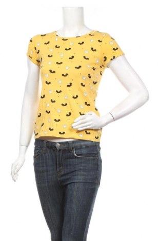 Дамска тениска Fb Sister, Размер XXS, Цвят Жълт, Памук, Цена 9,82лв.