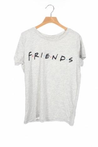 Дамска тениска H&M, Размер XS, Цвят Сив, 59% памук, 41% полиестер, Цена 15,75лв.