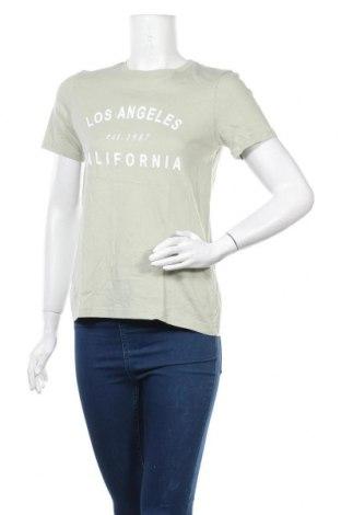 Дамска тениска H&M L.O.G.G., Размер S, Цвят Зелен, Цена 10,29лв.
