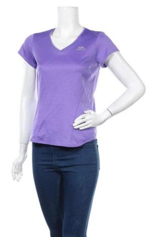 Дамска тениска Kalenji, Размер M, Цвят Лилав, Полиестер, Цена 4,73лв.