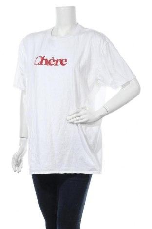Γυναικείο t-shirt Missguided, Μέγεθος XL, Χρώμα Λευκό, Βαμβάκι, Τιμή 7,77€