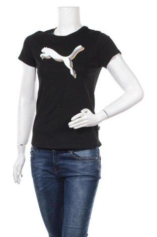 Дамска тениска PUMA, Размер S, Цвят Черен, Памук, Цена 46,50лв.