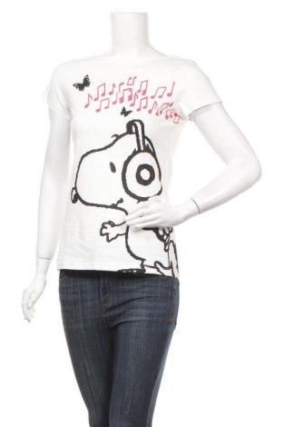 Дамска тениска Snoopy, Размер M, Цвят Бял, Памук, Цена 27,30лв.