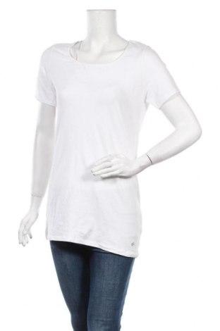 Дамска тениска Tamaris, Размер M, Цвят Бял, 95% памук, 5% еластан, Цена 13,77лв.