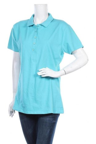 Дамска тениска Tee Jays, Размер 3XL, Цвят Син, 95% памук, 5% еластан, Цена 14,28лв.