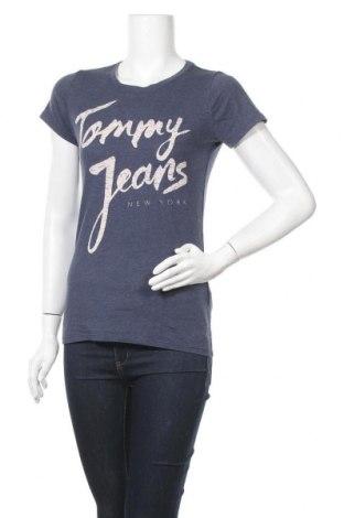 Дамска тениска Tommy Hilfiger, Размер M, Цвят Син, 60% памук, 40% полиестер, Цена 33,60лв.
