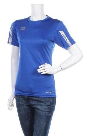 Дамска тениска Umbro, Размер S, Цвят Син, Полиестер, Цена 4,73лв.
