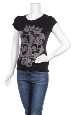 Дамска тениска Zara Trafaluc, Размер S, Цвят Черен, 90% памук, 10% еластан, Цена 10,08лв.