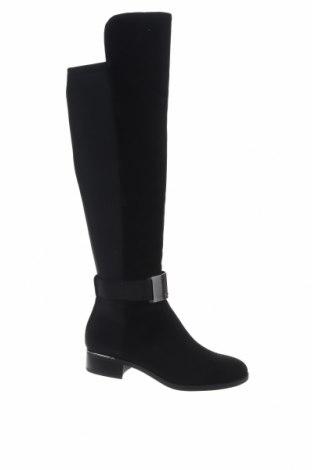 Γυναικείες μπότες Calvin Klein, Μέγεθος 37, Χρώμα Μαύρο, Φυσικό σουέτ, κλωστοϋφαντουργικά προϊόντα, Τιμή 71,91€