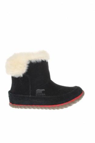 Γυναικείες μπότες Sorel, Μέγεθος 36, Χρώμα Μαύρο, Φυσικό σουέτ, Τιμή 100,13€