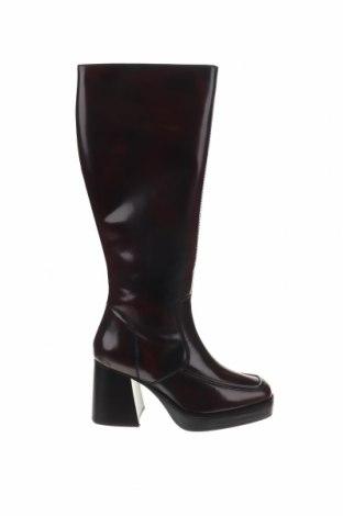 Γυναικείες μπότες Topshop, Μέγεθος 40, Χρώμα Κόκκινο, Γνήσιο δέρμα, Τιμή 59,98€