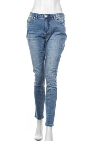 Дамски дънки Aniston, Размер L, Цвят Син, 98% памук, 2% еластан, Цена 40,88лв.