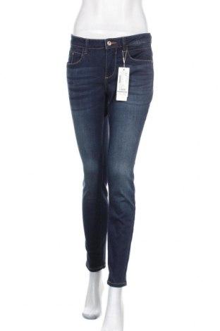 Дамски дънки Tom Tailor, Размер M, Цвят Син, 42% памук, 34% полиестер, 22% вискоза, 2% еластан, Цена 105,84лв.
