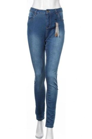 Дамски дънки Vrs, Размер L, Цвят Син, 65% памук, 32% полиестер, 3% еластан, Цена 27,93лв.