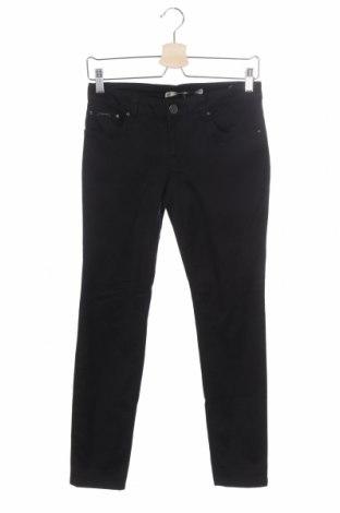 Дамски дънки Zara, Размер XS, Цвят Черен, 98% памук, 2% еластан, Цена 25,50лв.