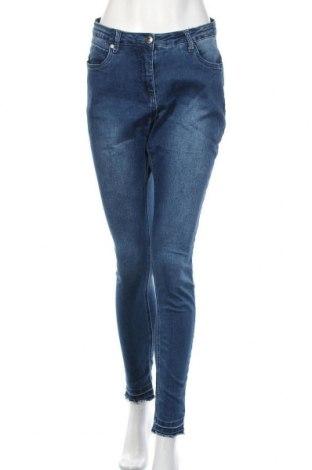Дамски дънки Zhenzi, Размер L, Цвят Син, 73% памук, 25% полиестер, 2% еластан, Цена 17,06лв.