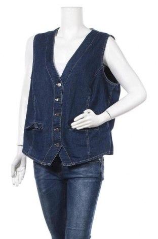 Дамски елек, Размер XL, Цвят Син, 80% памук, 18% полиестер, 2% еластан, Цена 14,96лв.