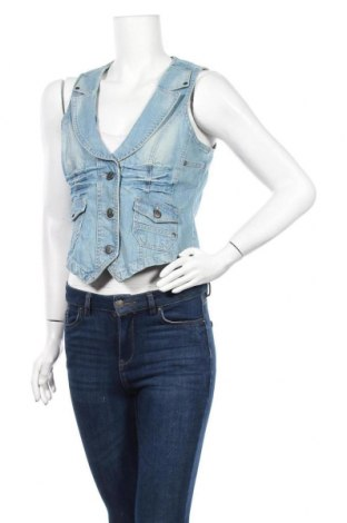 Дамски елек Blue Motion, Размер S, Цвят Син, 99% памук, 1% еластан, Цена 4,73лв.