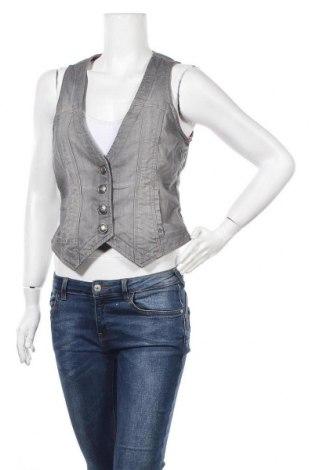 Дамски елек Esprit, Размер L, Цвят Сив, 98% памук, 2% еластан, Цена 19,95лв.