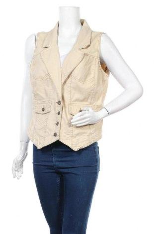 Дамски елек Gloria Vanderbilt, Размер XL, Цвят Бежов, 98% памук, 2% еластан, Цена 26,93лв.