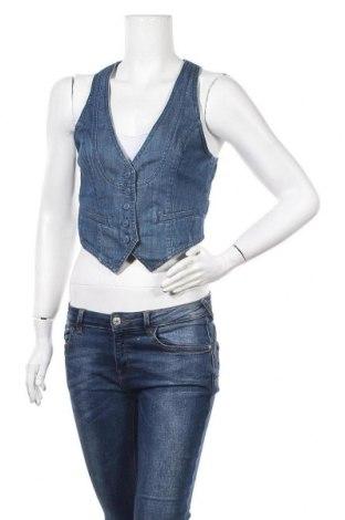 Дамски елек H&M, Размер M, Цвят Син, 99% памук, 1% еластан, Цена 4,54лв.