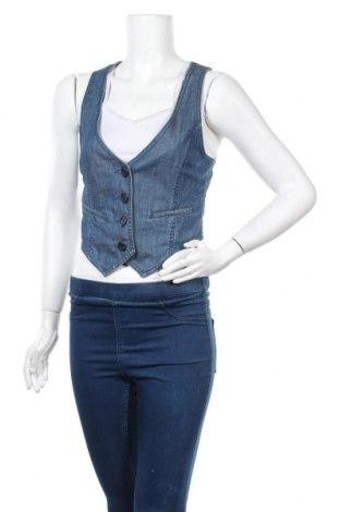 Дамски елек H&M, Размер M, Цвят Син, 99% памук, 1% еластан, Цена 17,96лв.