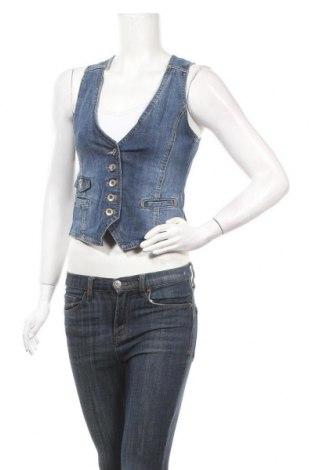 Дамски елек H&M L.O.G.G., Размер S, Цвят Син, 99% памук, 1% еластан, Цена 9,24лв.